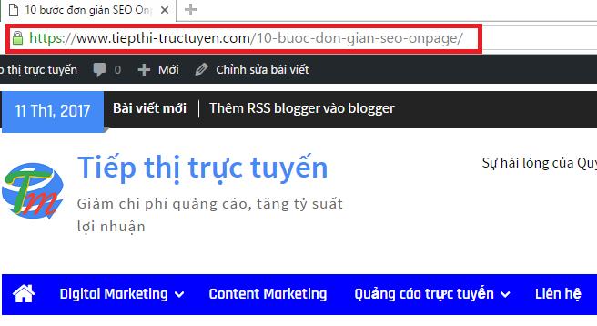 URL thân thiên giúp SEO Onpage dễ dàng hơn, và google dễ hiểu hơn.